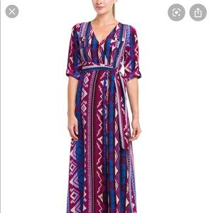 Yumi Kim XS purple aztec print maxi dress